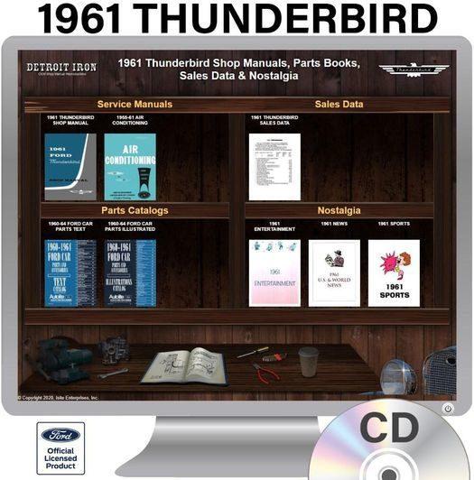 1961 Thunderbird OEM Manuals - CD