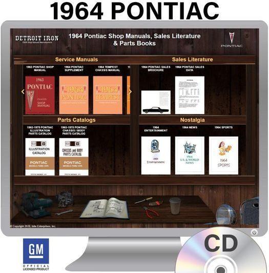 1964 Pontiac OEM Manuals - CD
