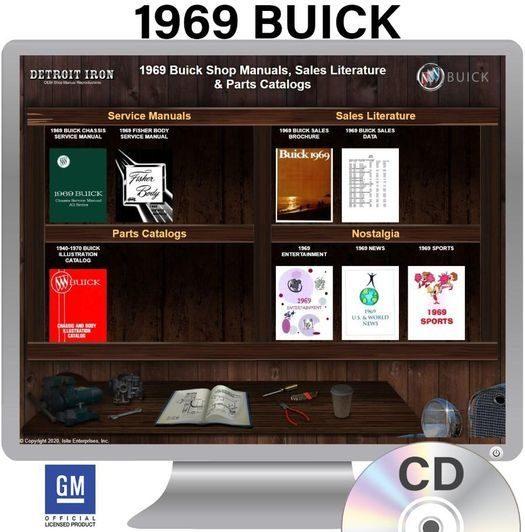 1969 Buick OEM Manuals - CD