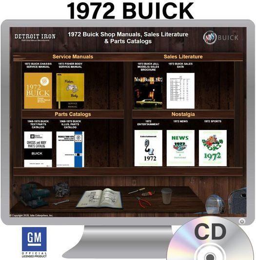 1972 Buick Shop Manuals, Sales Literature & Parts Books Kit