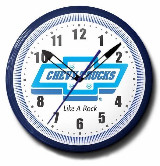 Chevy Trucks Neon Clock: High Quality - Like A Rock, 20 Inch