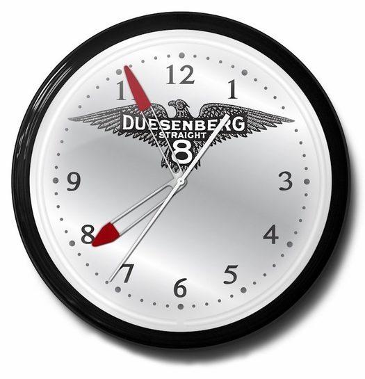 Duesenberg Straight 8 Neon Clock