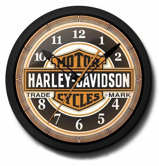 Harley-Davidson Neon Clock: High Quality, 20 Inch