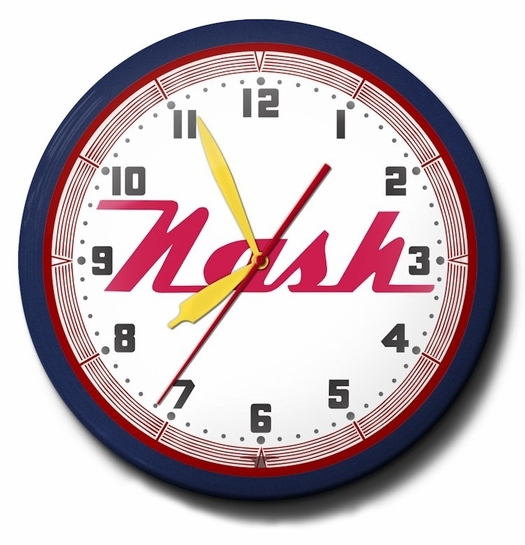 Nash Motors Neon Clock, High Quality, 20 Inch