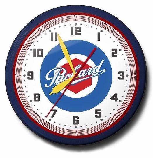 Packard Car Neon Clock, High Quality, 20 Inch