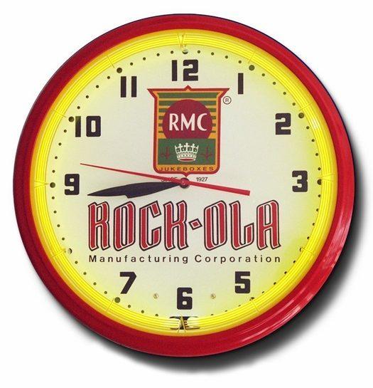Rock-Ola Juke Boxes Neon Clock, High Quality, 20 Inch