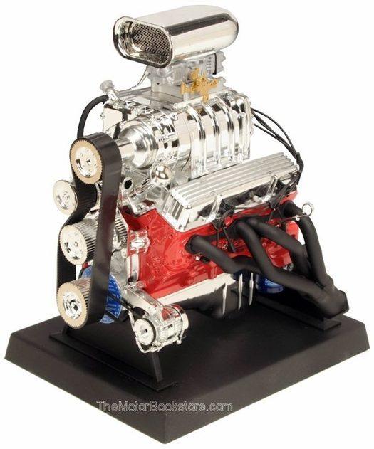 Chevy Blown Hot Rod Engine Die-Cast,1:6 Scale