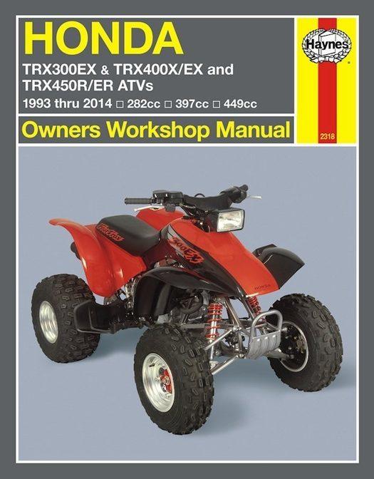Honda TRX300, 400EX, 450R, 450ER Repair Manual 1993-2014