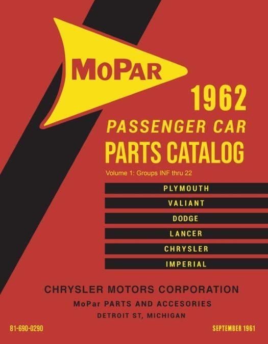 1962 Mopar Parts Parts Catalog