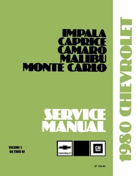 1980 Chevrolet Car Shop Manual