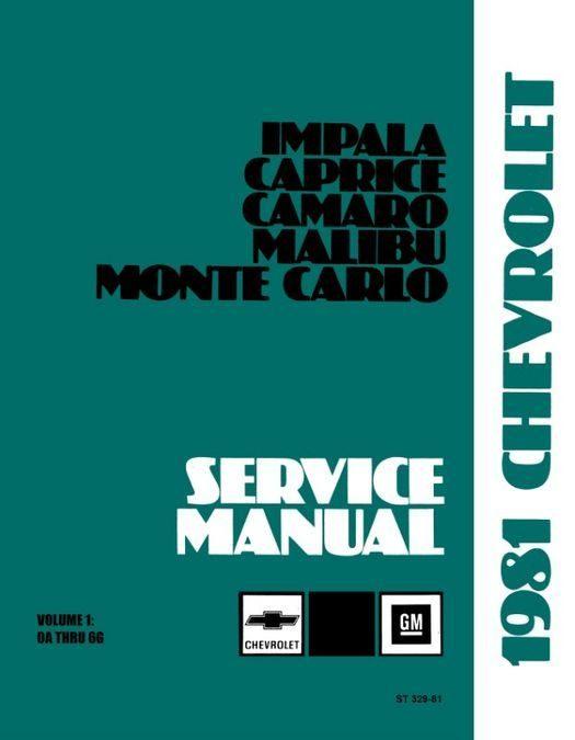 1981 Chevrolet Car Shop Manual