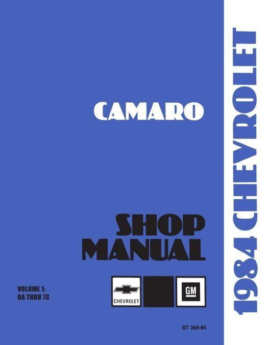 1984 Chevrolet Camaro Shop Manual