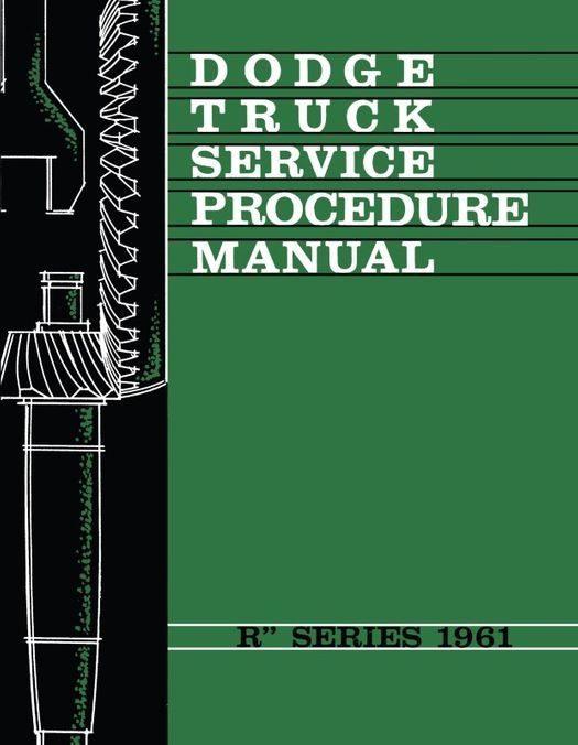 1961 Dodge Truck R Series Shop Manual Supplement