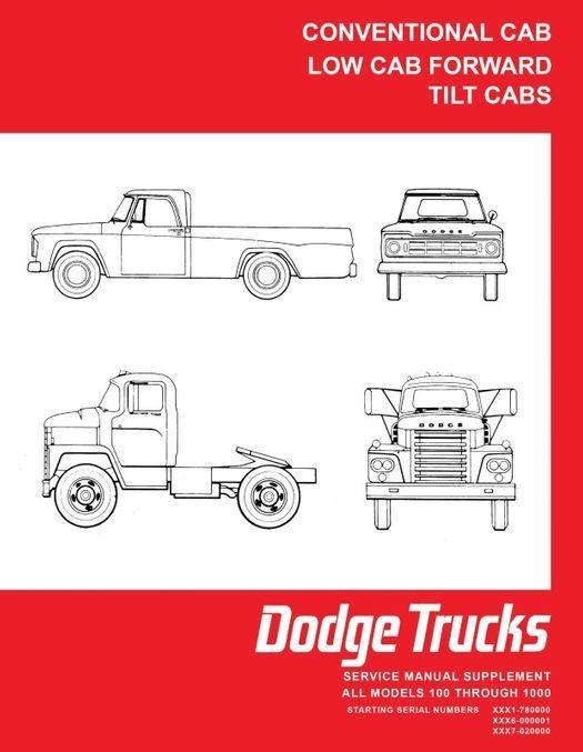 1968 Dodge Truck 100-800 Shop Manual Supplement