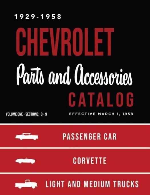 1929 - 1958 Chevrolet Parts Book