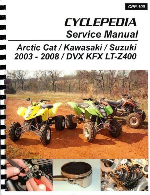 Arctic Cat DVX / Kawasaki KFX / Suzuki LT-Z400 Service Manual: 2003-2008