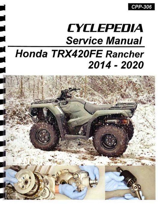 Honda TRX420FE Rancher Service Manual 2014-2020