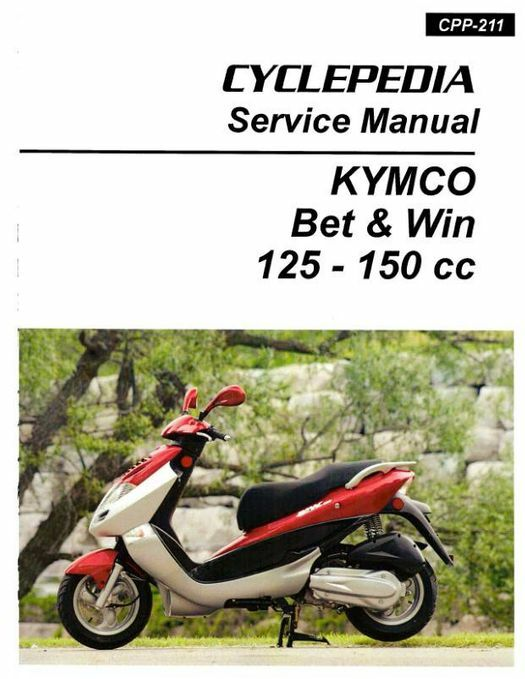 KYMCO Bet & Win 125 and 150 Service Manual 2002-2008