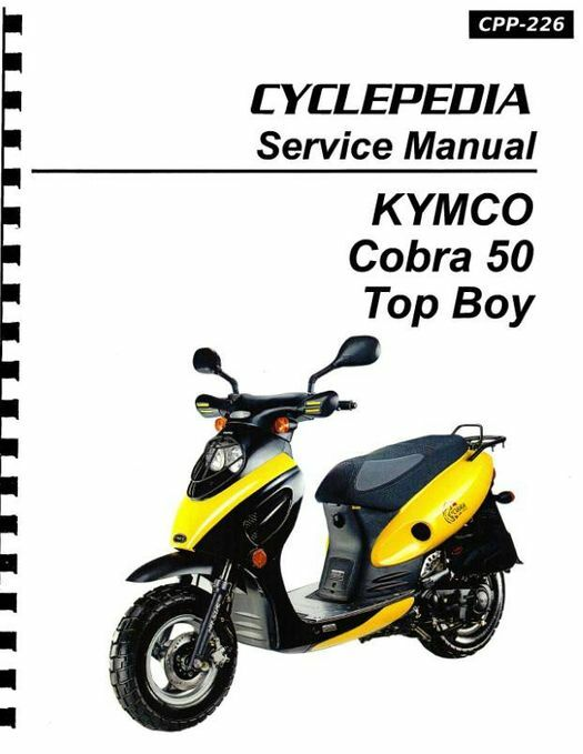 KYMCO Cobra 50 & Top Boy Scooter Service Manual