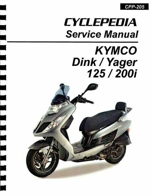 KYMCO Dink / Yager 125cc / 200cc Scooter Repair Manual 2009-2012