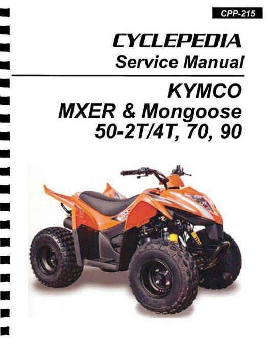 KYMCO MXER & Mongoose 50-2T, 50-4T, 70, 90cc ATV Service Manual