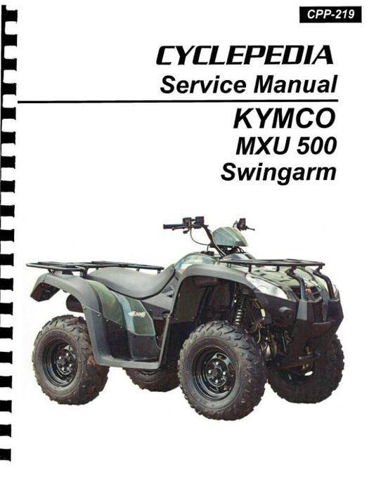 KYMCO MXU 500 ATV Swingarm Service Manual 2007-2009