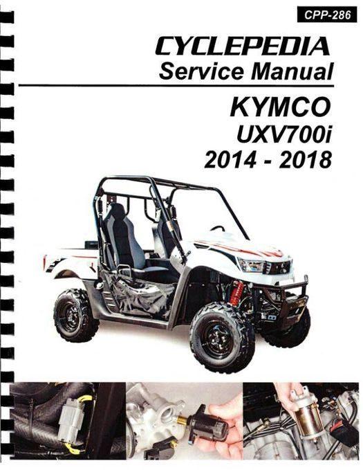 KYMCO UXV700i 4X4 Side X Side Service Manual 2014-2018