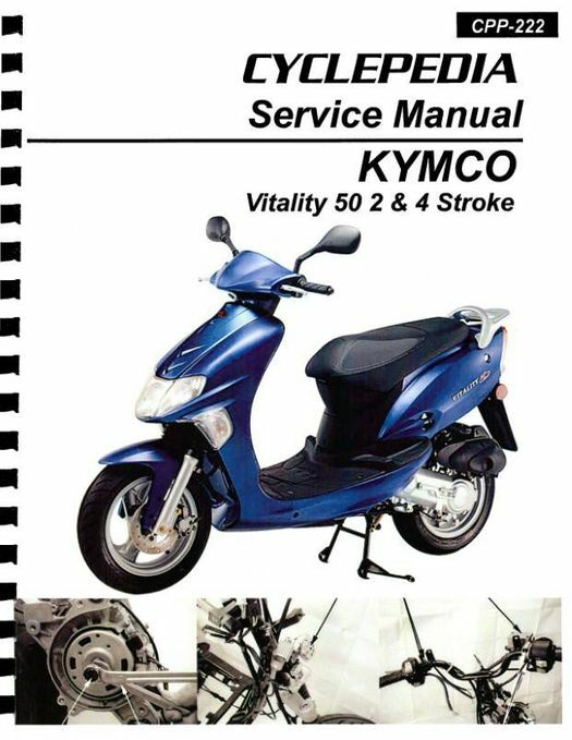 KYMCO Vitality 50 2-4T Scooter Service Manual 2004-2008