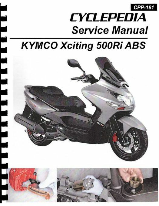 KYMCO Xciting 500Ri / ABS Scooter Service Manual 2009-2012