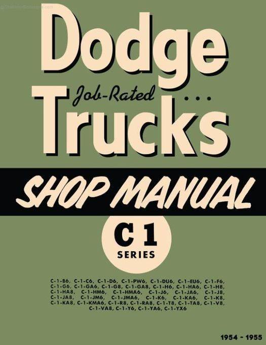 1954-1955 Dodge Truck C-1 Shop Manual
