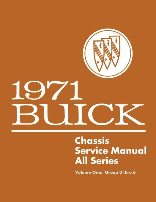 1971 Buick Chassis Service Manual - All Series