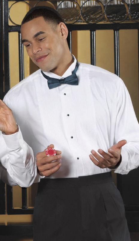Men's Wing Collar Tuxedo Shirt