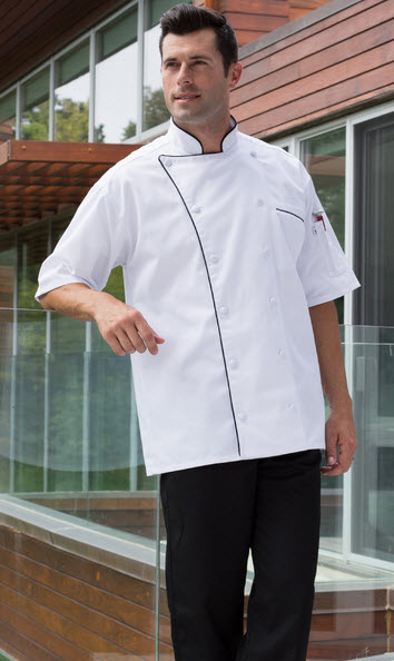 """*Clearance* Long sleeved Black Chef jacket Embroidered """"Chef"""" Size 2XL 52"""