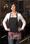 Three Pocket  American Flag Bib Apron