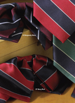 Repp Stripe Polyester Ties & Bows