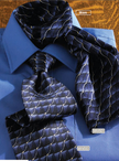 Signature Silk Wave Mens Ties & Ladies Scarves