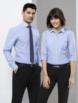 Men's Restaurant Fine Stripe Euro Shirt