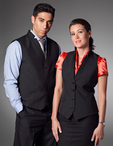Ladies Server Stand-Up Collar Three Button Vest