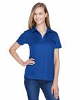 Ladies Premium Cotton-Lined Moisture Management Polo Shirt
