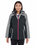 Ladies Valet Interactive Shell with Reflective Printed Panels Jacket