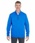 Men's Contrast Piping Half-Zip Sweater