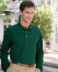 Unisex Long Sleeve Cotton Polo Shirt
