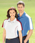 Ladies Color Block Pique Polo Shirt