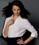 Ladies Ultimate Stretch 3/4 Sleeve V-Neck Restaurant Blouse