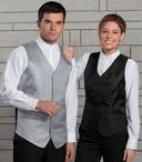 Ladies Waitress Diamond & Dots Brocade Vest (Discontinued NOT Returnable)