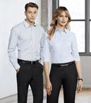 Ladies Hotel Cotton Rich Spandex Stripe 3/4 Sleeve Blouse