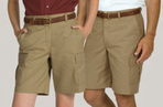Ladies Flat Front Cargo Shorts