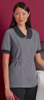 Ladies Microfiber Microcheck Housekeeping Tunic