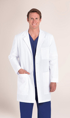Men's 6 Pocket 37 Inch Tablet Lab Coat