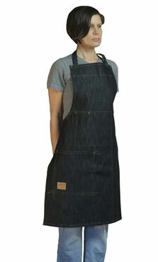 Cotton Denim Indigo Bib Apron